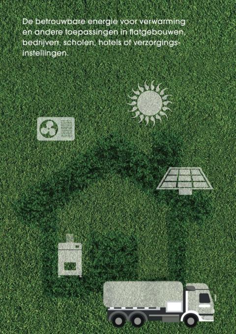 De betrouwbare energie voor verwarming en andere toepassingen in flatgebouwen, bedrijven, scholen, hotels of verzorgingsinstellingen.